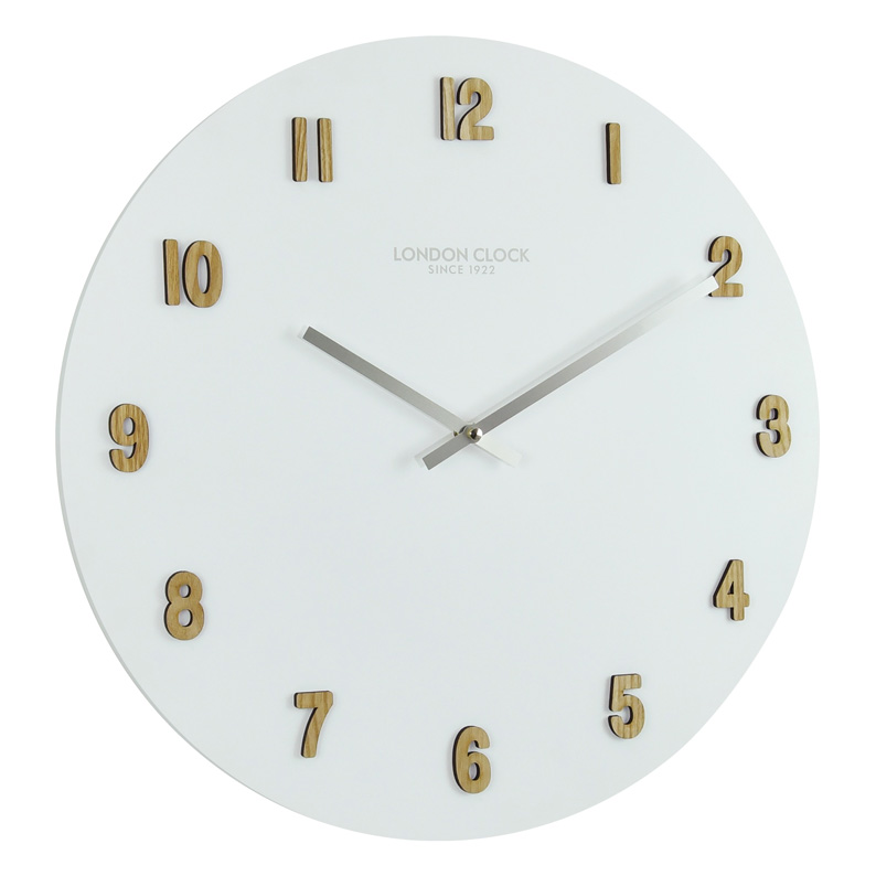 WALL CLOCK WITH RAISED WOODEN NUMERALS