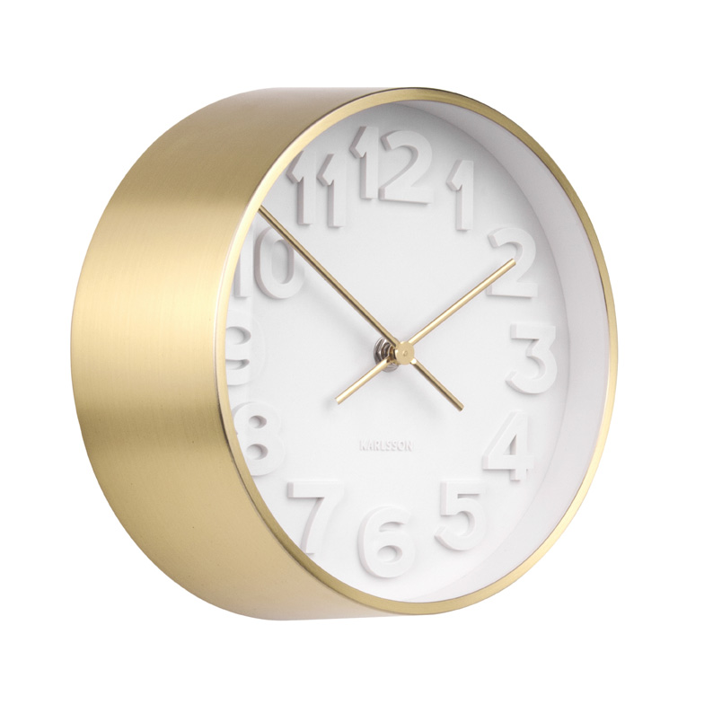 GLORIOUS GOLD WALL MOUNTED STEEL CLOCK