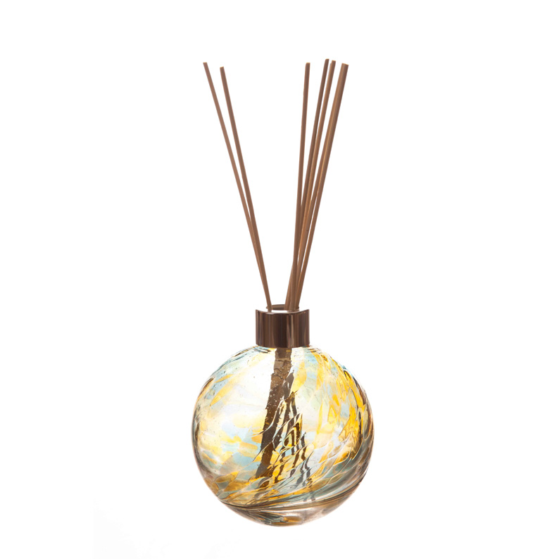 YELLOW AND BLUE HAND CRAFTED GLASS DIFFUSER